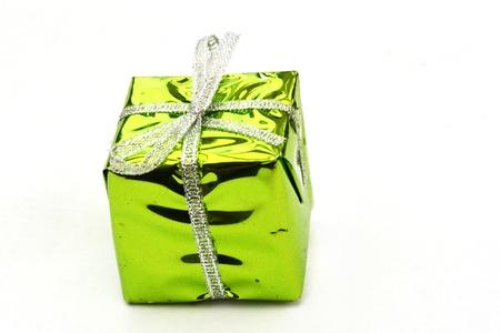 Bright green christmas box