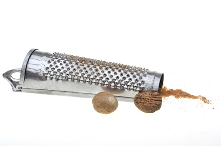 grater: Food grater with two nutmeg