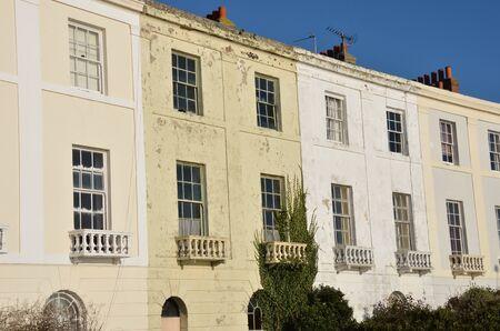 Row of coastal town houses Stock Photo - 17583386