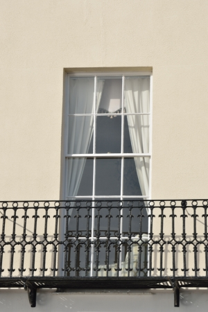 Window with iron Balcony Stock Photo - 17583346