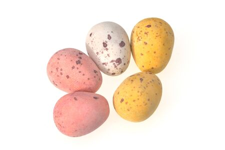 mottled: Group of mottled colored eggs