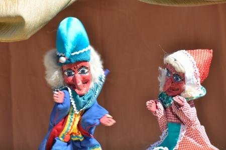 Punch and Judy show de marionetes