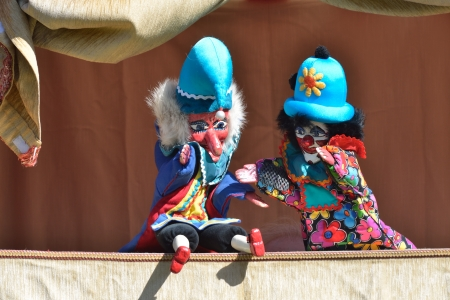 puppet show: Punch  and the Policeman