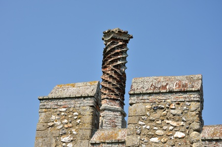 elizabethan: Elizabethan Chimney on castle walls