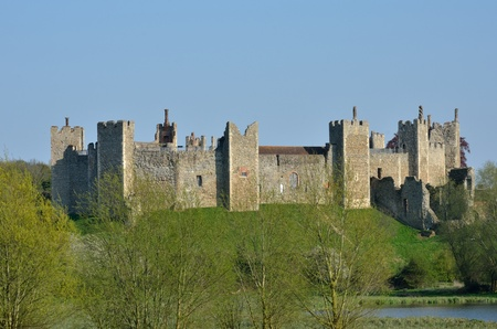 norman castle: Framlingham castle with trees