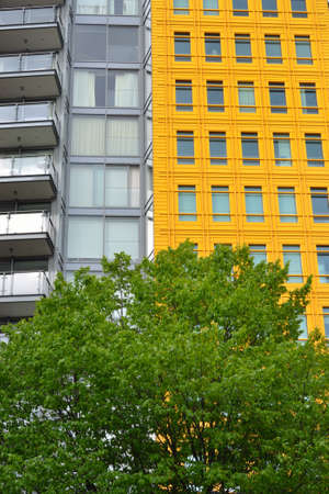 Bright Yellow building with tree Stock Photo - 19710728