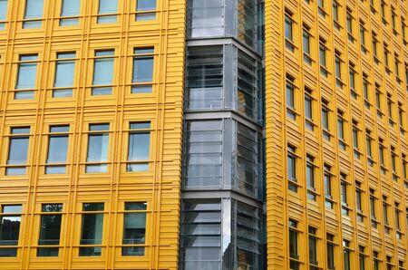 Corner of bright yellow building Stock Photo - 19710732