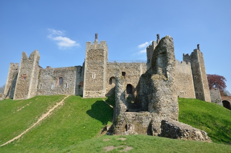 norman castle: Castle with front wall Editorial