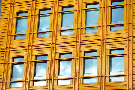 Yellow metal and windows Stock Photo - 19710751