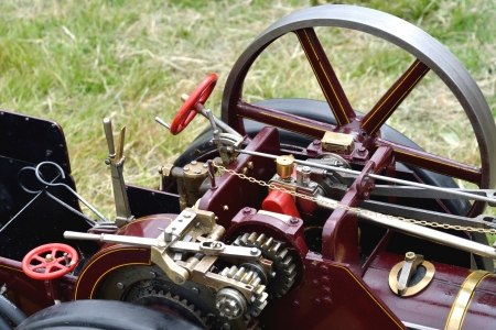 traction engine: Detail of traction engine