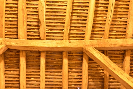 Inside of ancient wooden Roof Stock Photo - 21211263