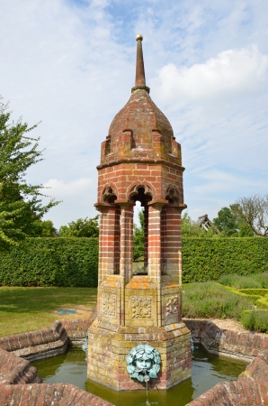 water feature: Ornate water feature in garden