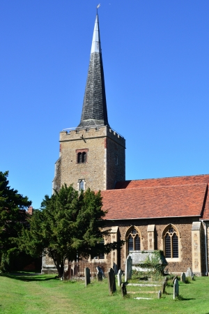 English Parish Church in portrait photo