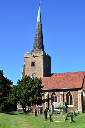 parish: English Parish Church in portrait Stock Photo