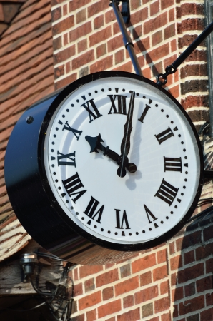 External Clock in Portrait photo