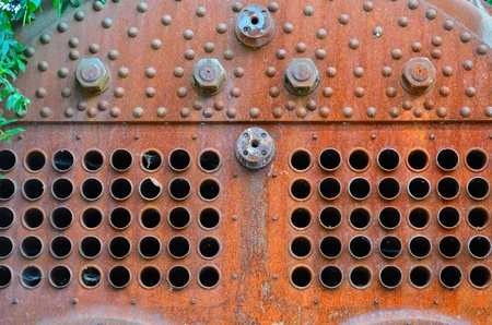 Detail of rusty steam boiler Stock Photo - 22411431