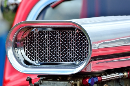 Detail of air intake on cusom car Stock Photo - 22411441