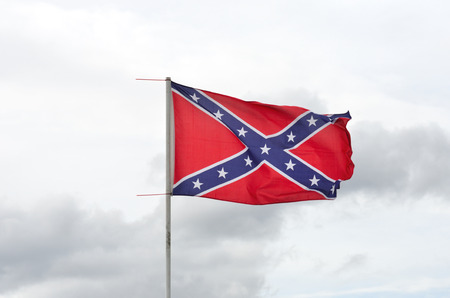 Confederate flag flying Stock Photo