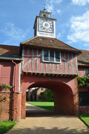 gatehouse: Elizabethan Gatehouse and clock