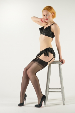 Glamourous 50s style pin up photo