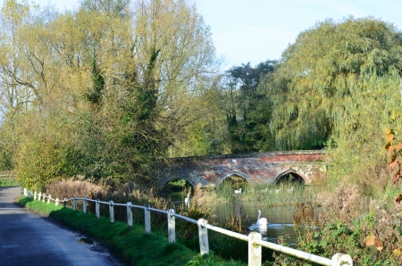 English bridge in countryside photo