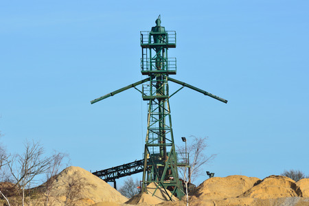 aggregates: Gravel Extraction Tower Stock Photo