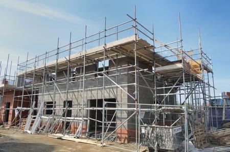 baustellen: Haus im Bau Lizenzfreie Bilder