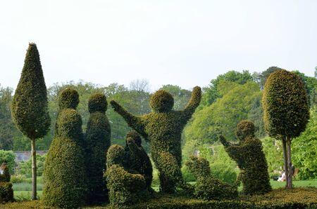 topiary: Formal garden topiary Stock Photo