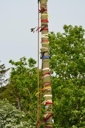 maypole: Maypole tree trunk Stock Photo