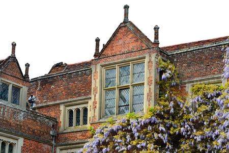 elizabethan: Tudor Building with wisteria
