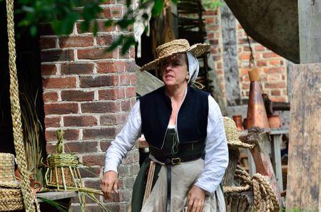 elizabethan: Elizabethan woman in costume Editorial