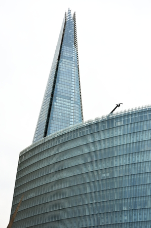 shard of glass: London shard with glass building in foreground
