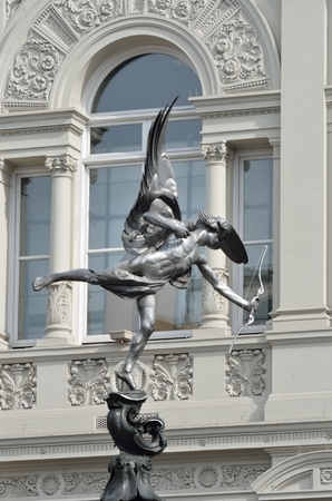 eros: Eros statue with arch in background