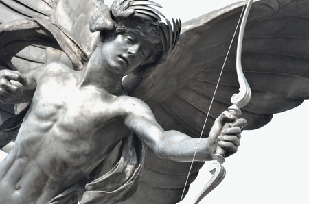 eros: Particolare della statua di Eros