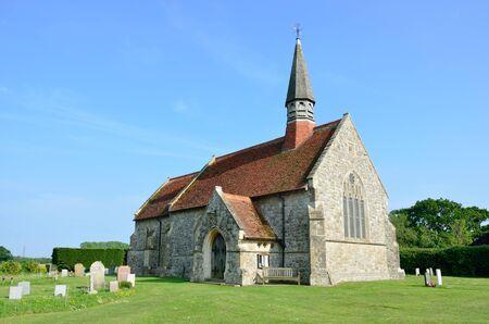 churchyard: English rural country church Stock Photo
