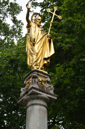 Statue of st paul at the cathedral london photo