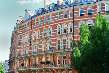 Curved brick luxury apartments kensington Editorial
