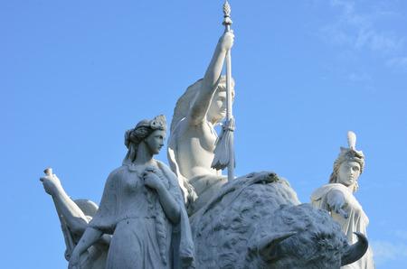 Close up of white statue at Albert Memorial photo