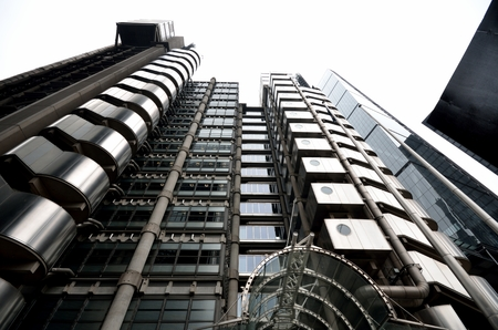 lloyd's: Looking up at lloyds building Editorial