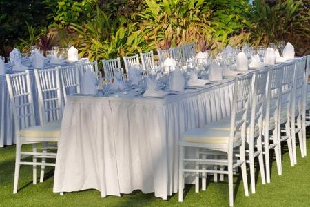 Outdoor wedding table photo