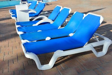 sunbeds: line of sunbeds