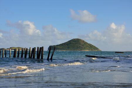 caribbean island: Caribbean Island from St Lucia Stock Photo