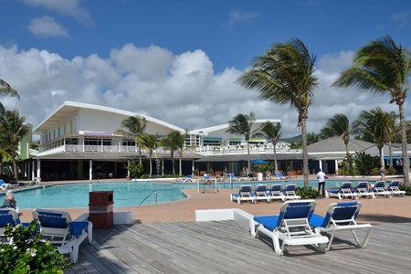 st lucia: ST LUCIA CARIBBEAN 23  January  2015: Holiday complex in caribbean