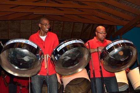 ST LUCIA CARIBBEAN 27 January  2015: Carribean steel band 新闻类图片