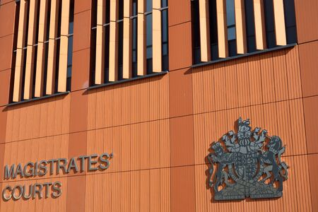 Front of modern magistrates court Editorial
