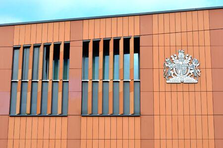 magistrates: Side of Magistrates court building Editorial