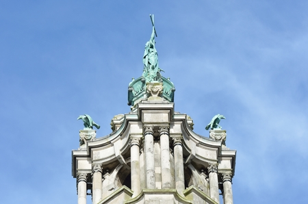 edwardian: Top of victorian town hall tower depicting St Helena