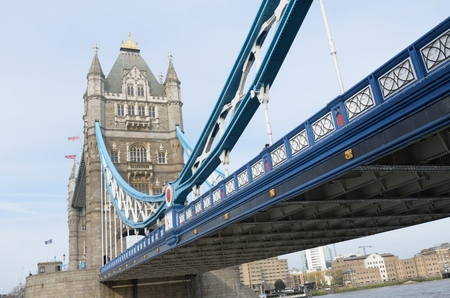 english famous: Tower Bridge from South Bank