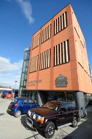 magistrates: COLCHESTER ESSEX ENGLAND 8 March 2015: Modern Magistrates court building