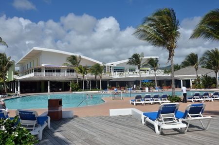 st lucia: ST LUCIA CARIBBEAN 23  January  2015: Holiday complex in caribbean island of st lucia
